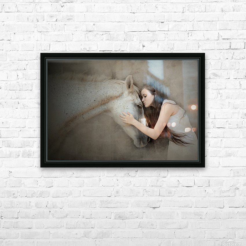 a kiss HD Sublimation Metal print with Decorating Float Frame (BOX)
