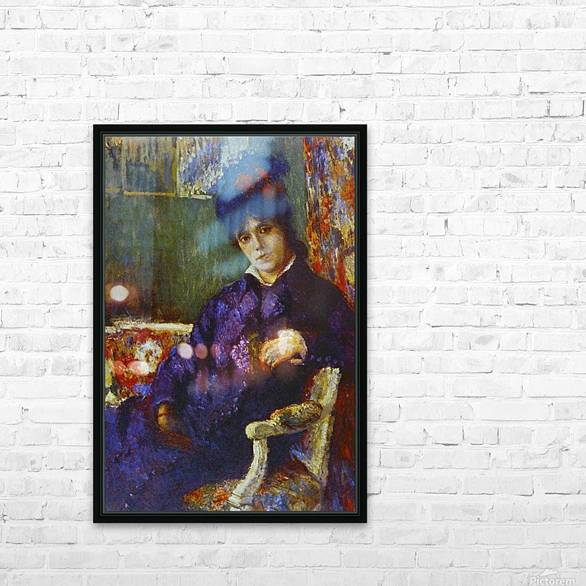 Seated Woman by Cassatt HD Sublimation Metal print with Decorating Float Frame (BOX)