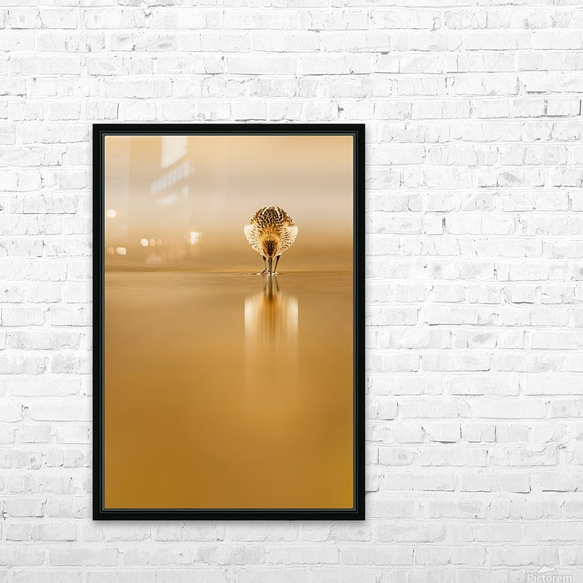 Dunlin reflection HD Sublimation Metal print with Decorating Float Frame (BOX)