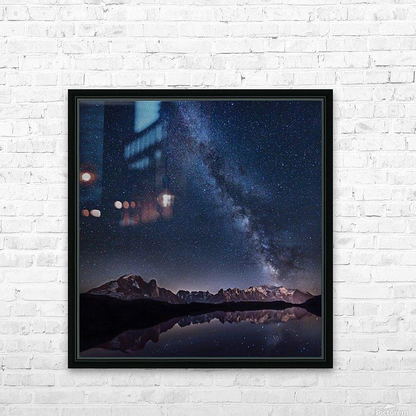 Lost in the stars HD sublimation métal imprimé avec décoration flotteur cadre (boîte)
