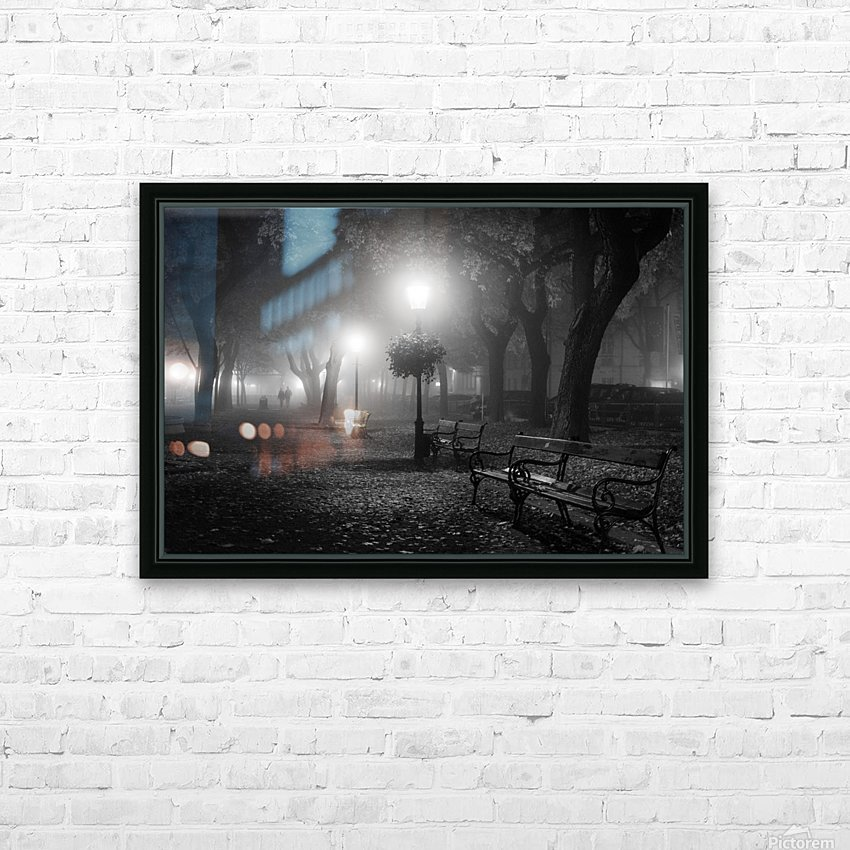 Foggy Day HD Sublimation Metal print with Decorating Float Frame (BOX)