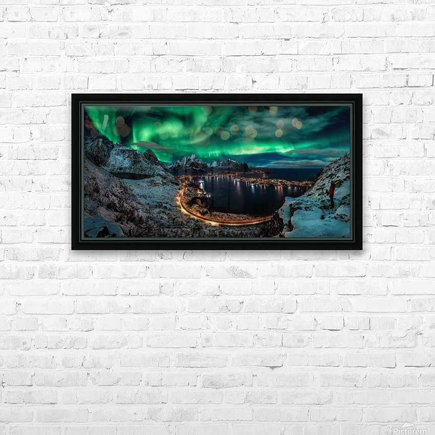 Chasing the Northern Lights HD Sublimation Metal print with Decorating Float Frame (BOX)