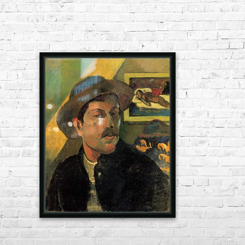 Self Portrait by Gauguin HD Sublimation Metal print with Decorating Float Frame (BOX)