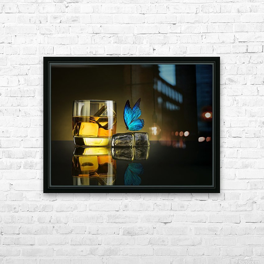 Butterfly Drink HD Sublimation Metal print with Decorating Float Frame (BOX)