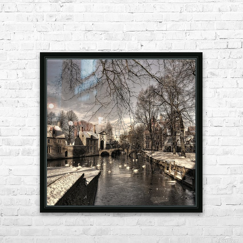 Bruges in Christmas dress HD Sublimation Metal print with Decorating Float Frame (BOX)