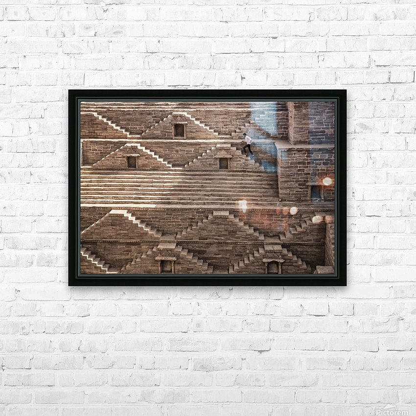 geometry HD Sublimation Metal print with Decorating Float Frame (BOX)