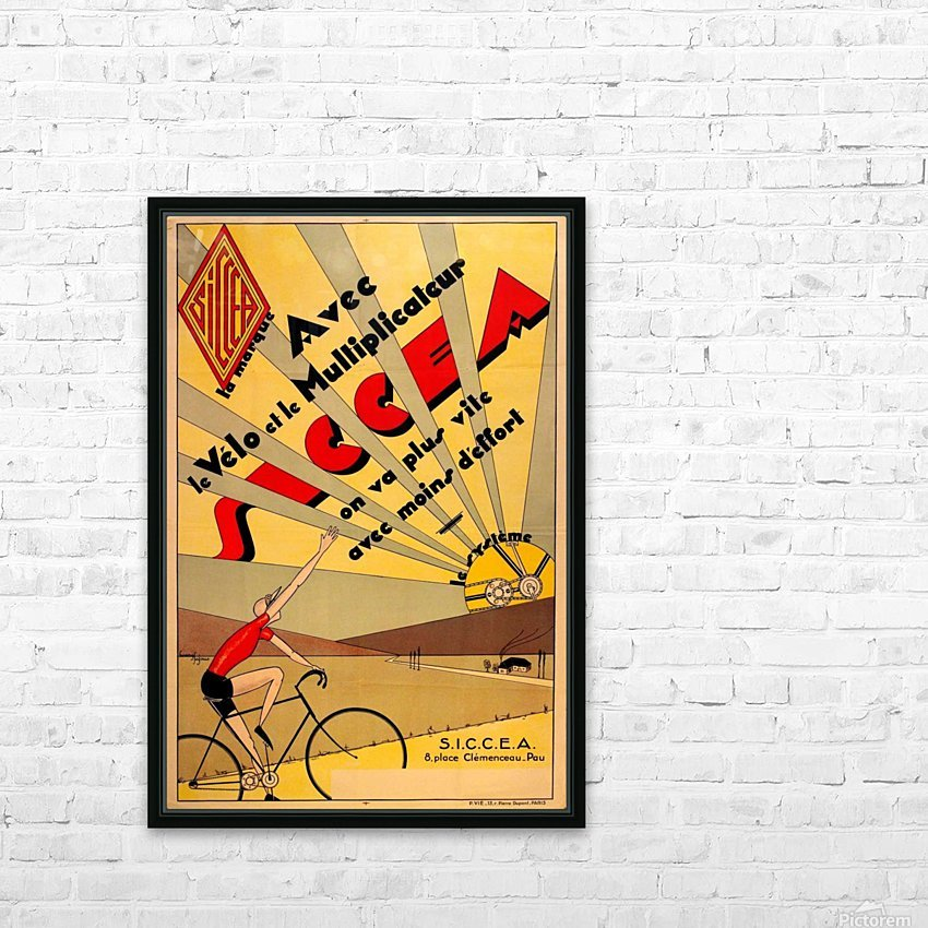 SICCEA original vintage poster HD Sublimation Metal print with Decorating Float Frame (BOX)