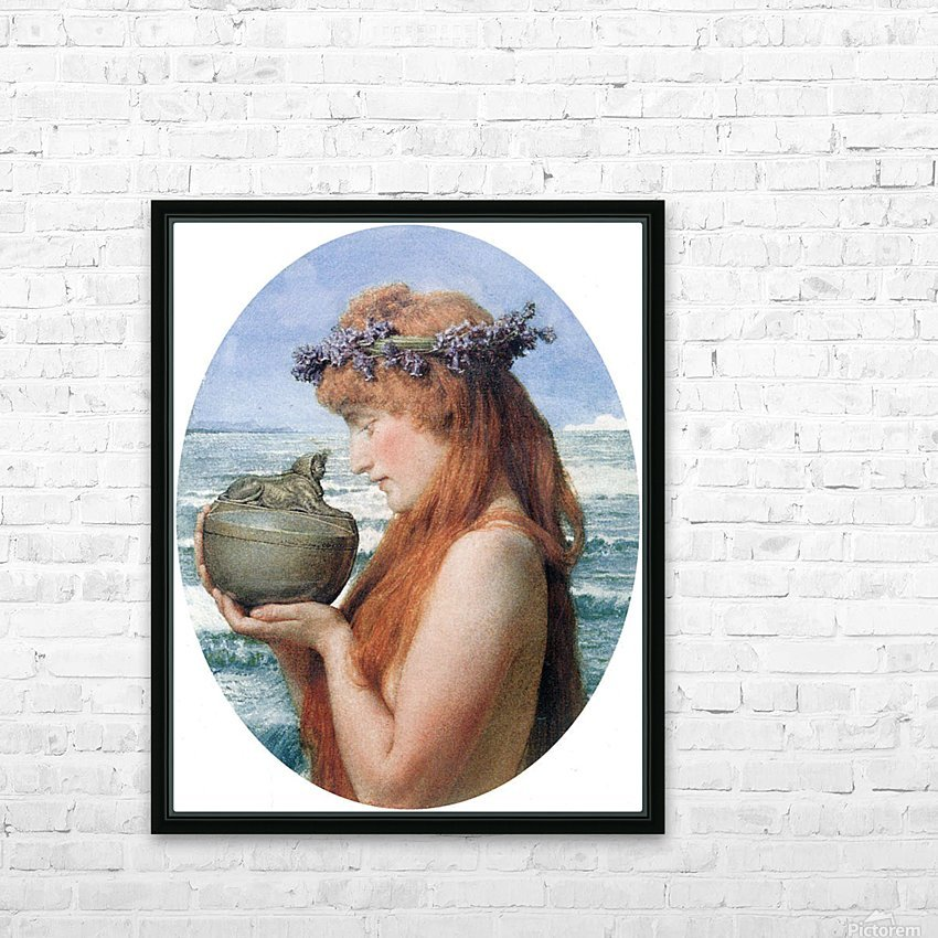 Pandora by Alma-Tadema HD Sublimation Metal print with Decorating Float Frame (BOX)