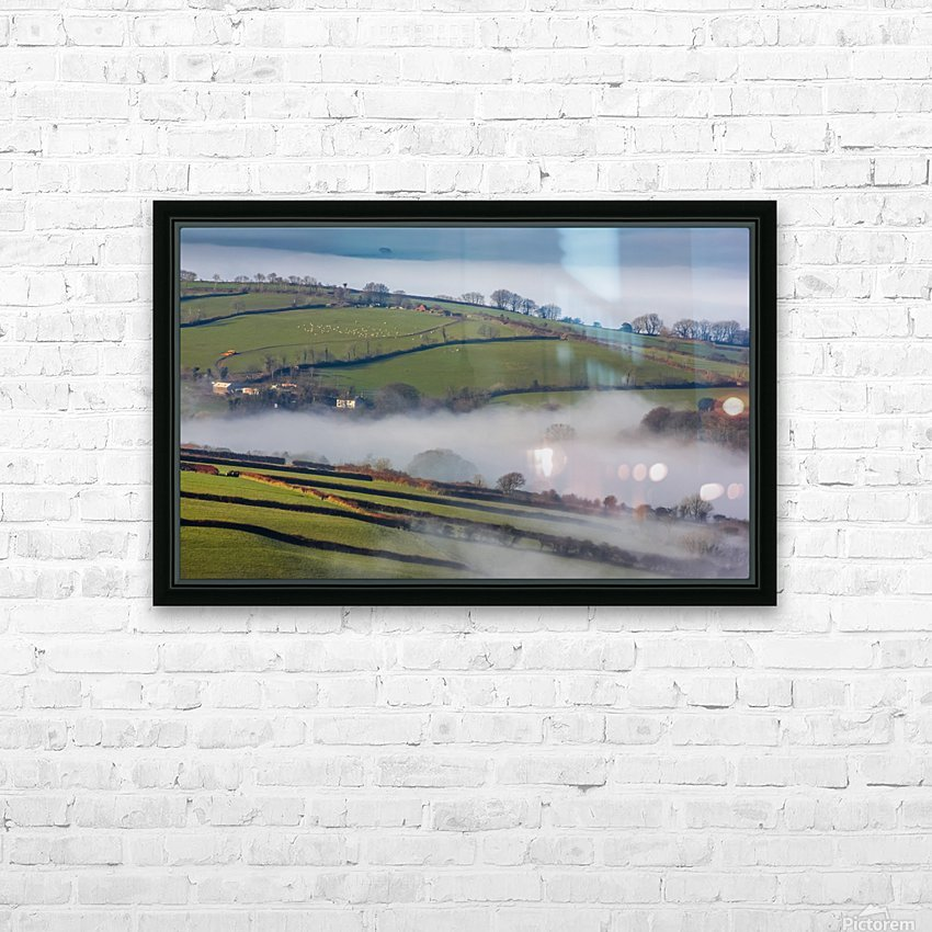 Agricultural mist HD Sublimation Metal print with Decorating Float Frame (BOX)
