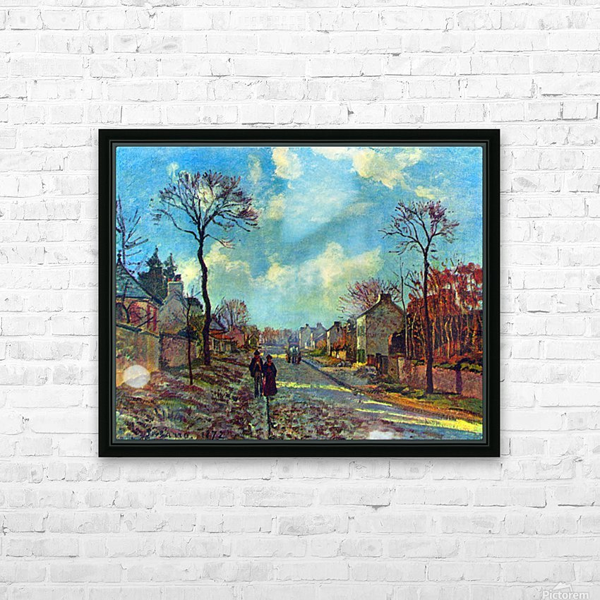 Strait of Louveciennes by Pissarro HD Sublimation Metal print with Decorating Float Frame (BOX)