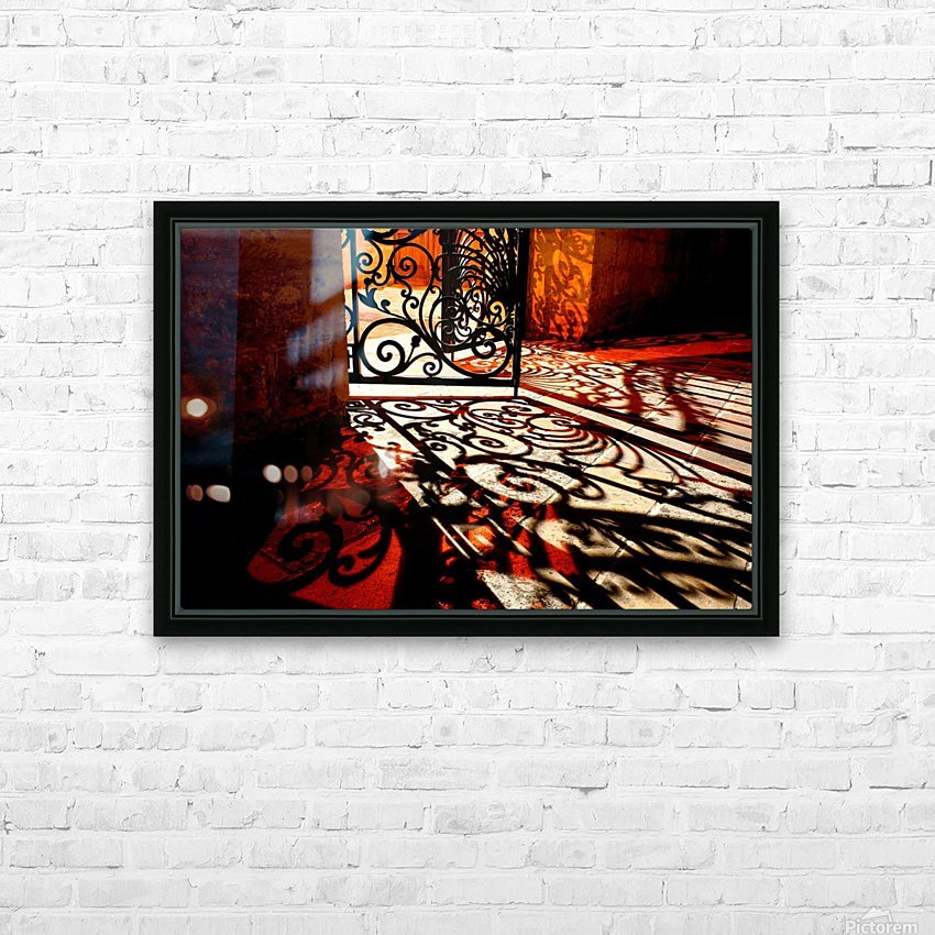 Courtyard shadows HD Sublimation Metal print with Decorating Float Frame (BOX)