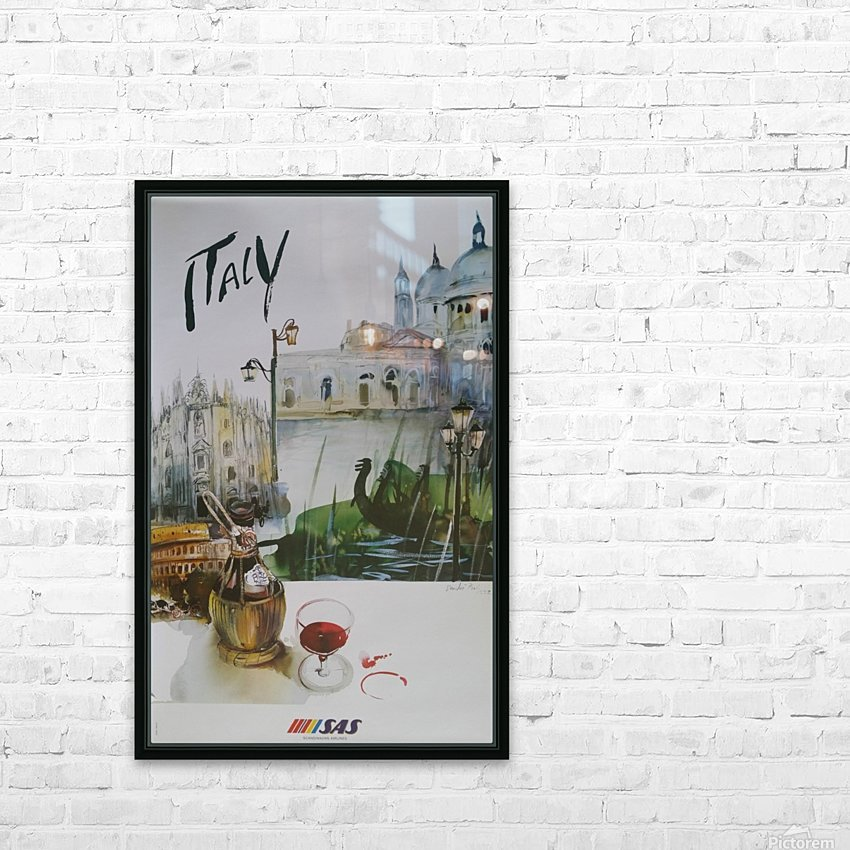Italy Travel Poster by SAS HD Sublimation Metal print with Decorating Float Frame (BOX)