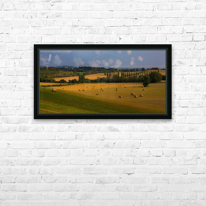 East Devon balescape HD Sublimation Metal print with Decorating Float Frame (BOX)