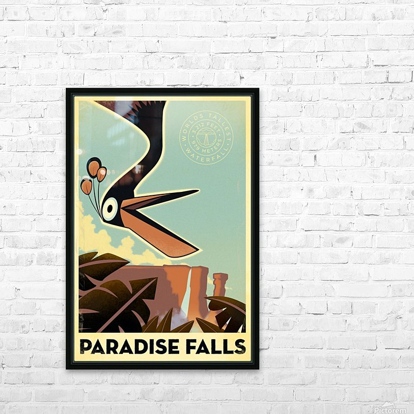 Paradise falls HD Sublimation Metal print with Decorating Float Frame (BOX)