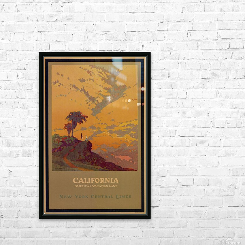 California American Vacation Land HD Sublimation Metal print with Decorating Float Frame (BOX)