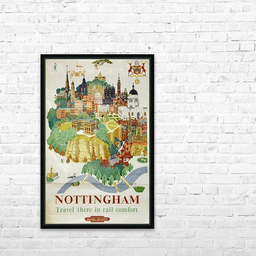 Nottingham vintage travel poster for British Railways HD Sublimation Metal print with Decorating Float Frame (BOX)