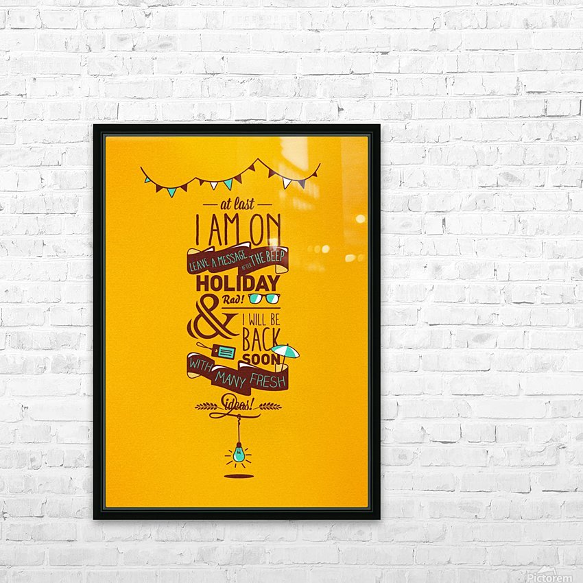 I am on Holiday HD Sublimation Metal print with Decorating Float Frame (BOX)