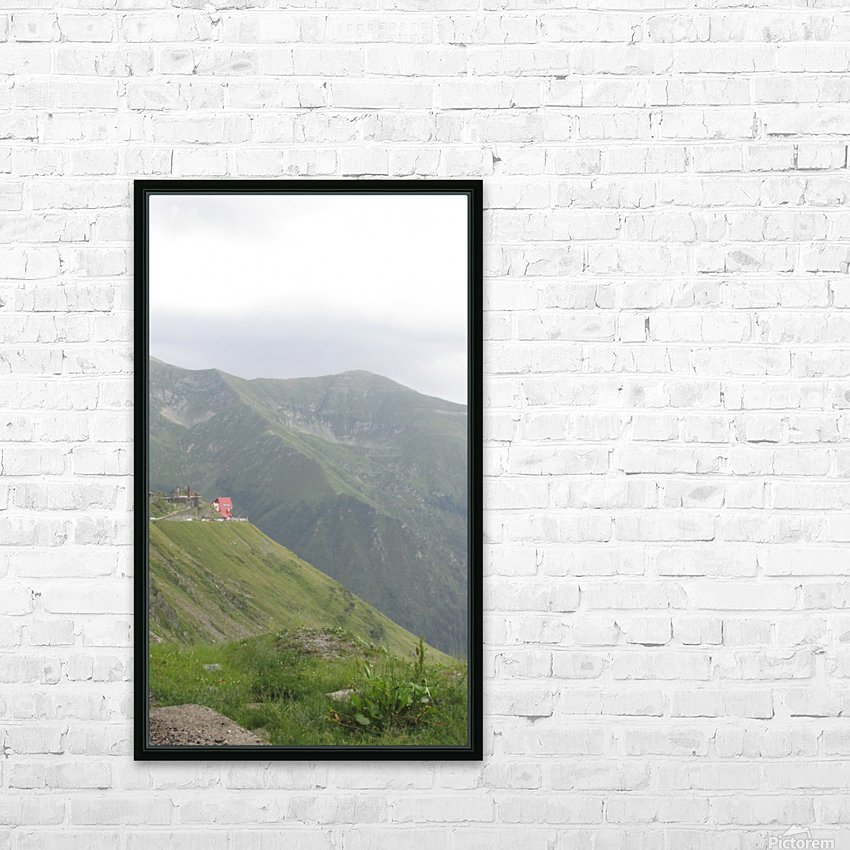 Landscape with mountain view at 2000 m altitude HD Sublimation Metal print with Decorating Float Frame (BOX)