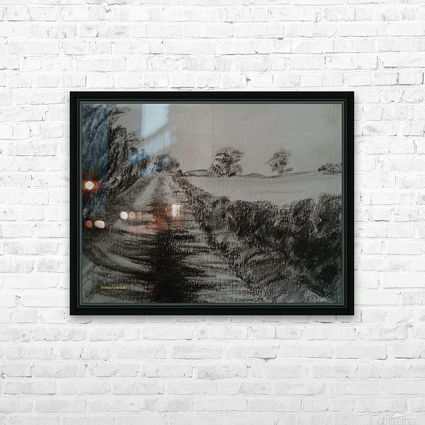 An English Lane HD Sublimation Metal print with Decorating Float Frame (BOX)