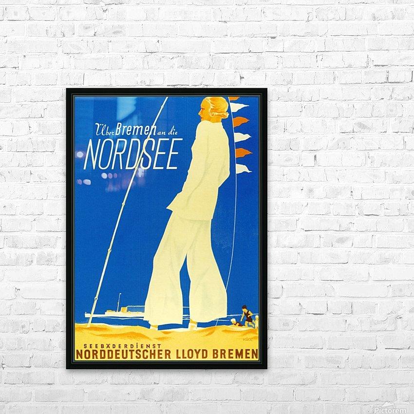 Nordsee vintage German travel poster HD Sublimation Metal print with Decorating Float Frame (BOX)
