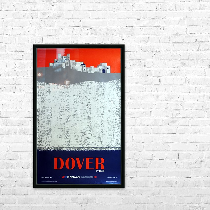 Dover by Train HD Sublimation Metal print with Decorating Float Frame (BOX)