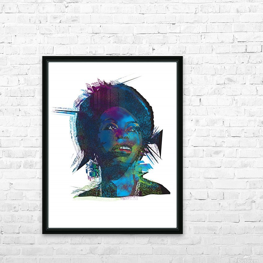 Nina Simon Art  HD Sublimation Metal print with Decorating Float Frame (BOX)
