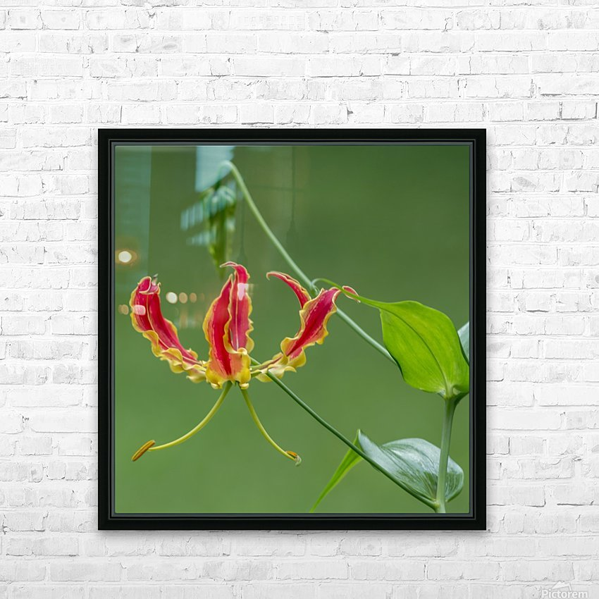 Flame Flower  HD Sublimation Metal print with Decorating Float Frame (BOX)