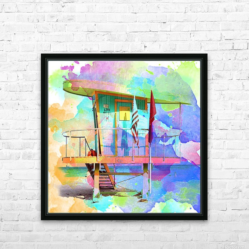 Art208 HD Sublimation Metal print with Decorating Float Frame (BOX)