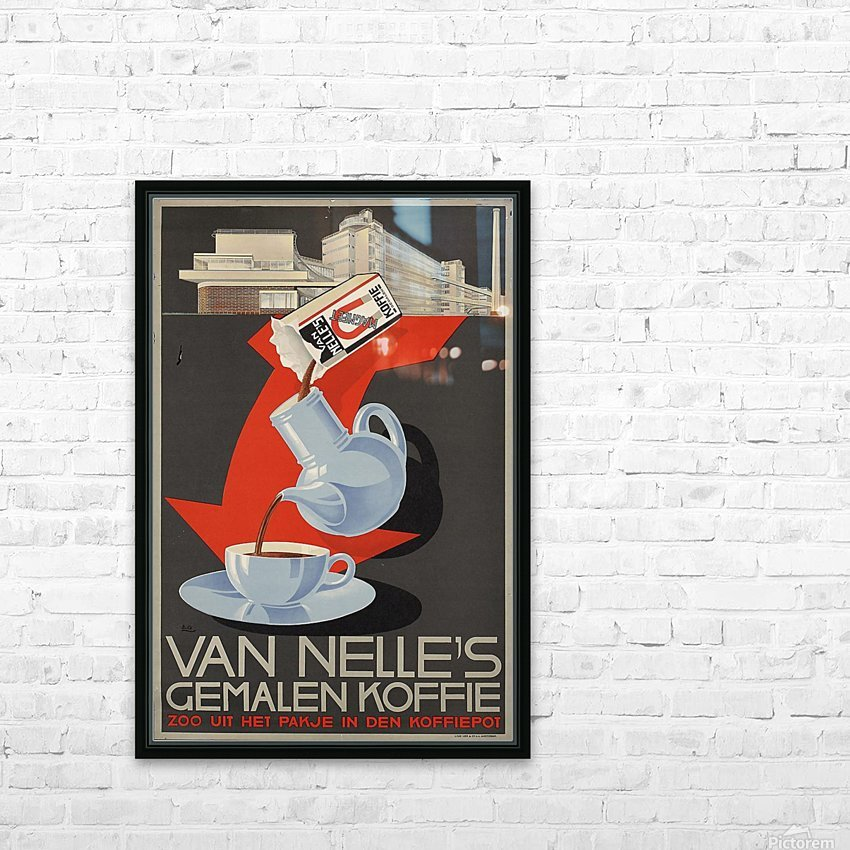 Van Nelle German Koffie HD Sublimation Metal print with Decorating Float Frame (BOX)