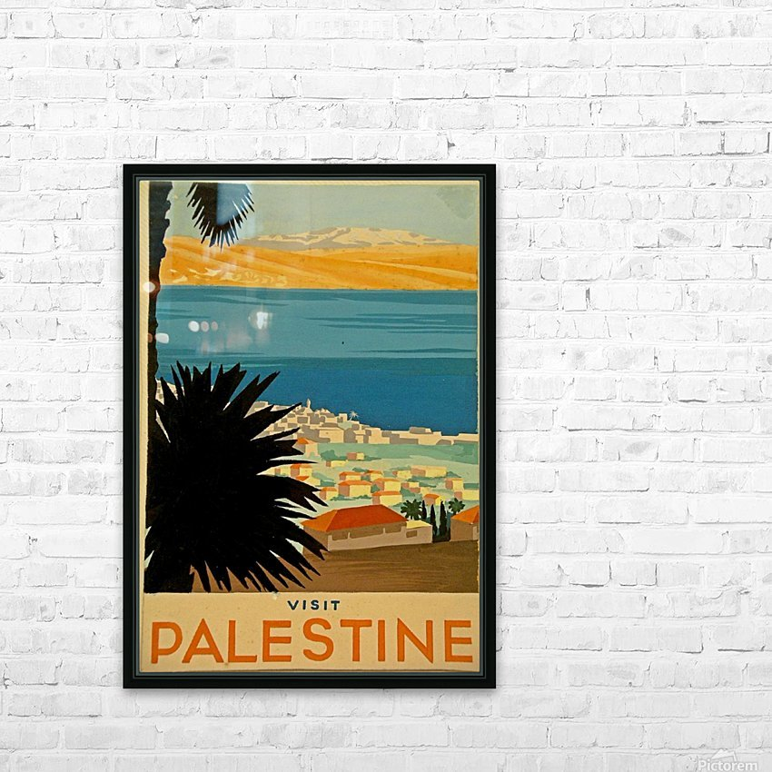 Visit Palestine HD Sublimation Metal print with Decorating Float Frame (BOX)