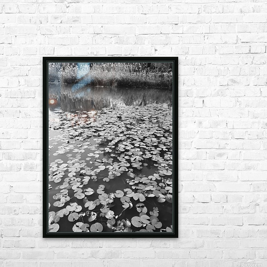 Weeping Lillies HD Sublimation Metal print with Decorating Float Frame (BOX)