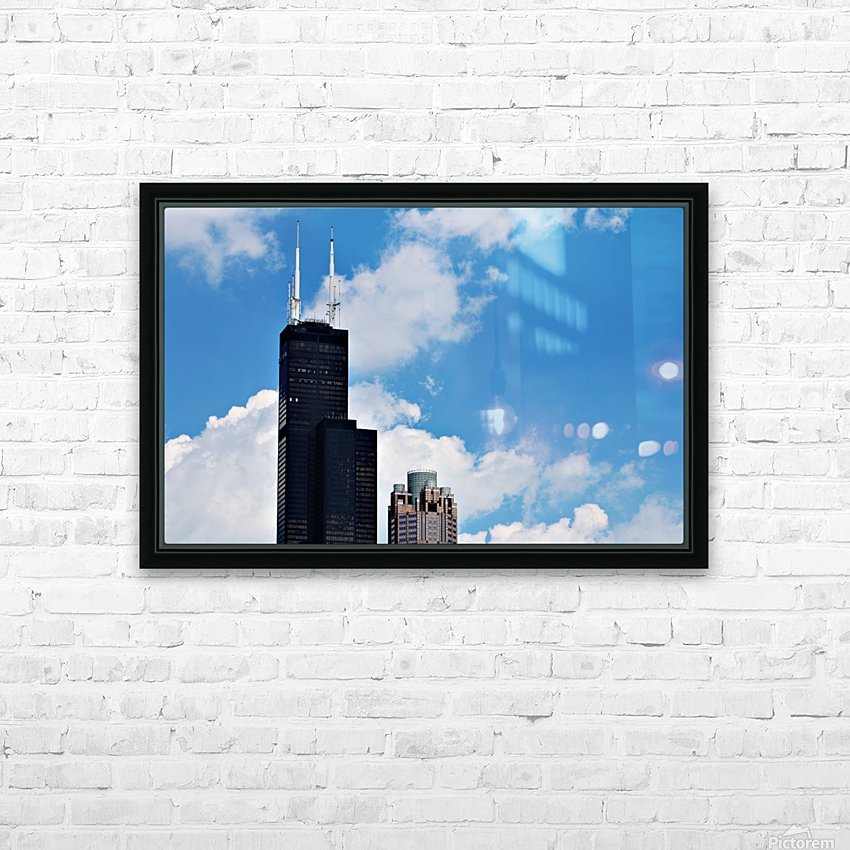 Willis Tower HD Sublimation Metal print with Decorating Float Frame (BOX)