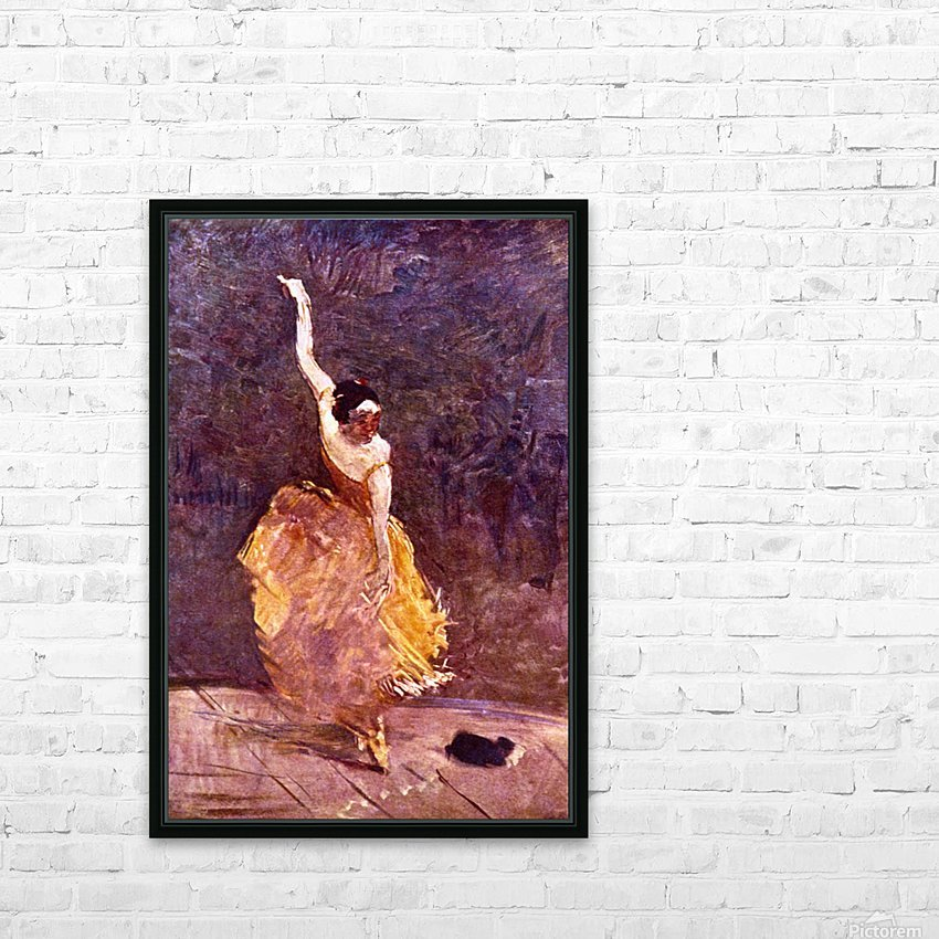 The Dancing Girl by Toulouse-Lautrec HD Sublimation Metal print with Decorating Float Frame (BOX)