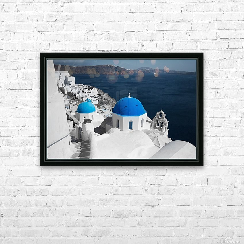 Blue Church HD Sublimation Metal print with Decorating Float Frame (BOX)