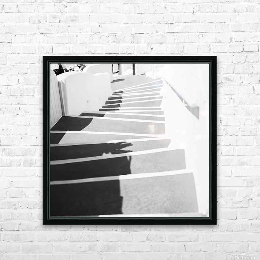 Stairs HD Sublimation Metal print with Decorating Float Frame (BOX)