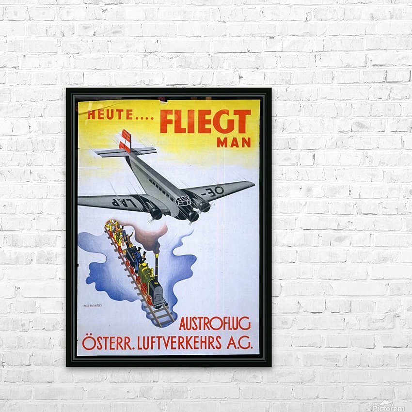 Austroflug HD Sublimation Metal print with Decorating Float Frame (BOX)