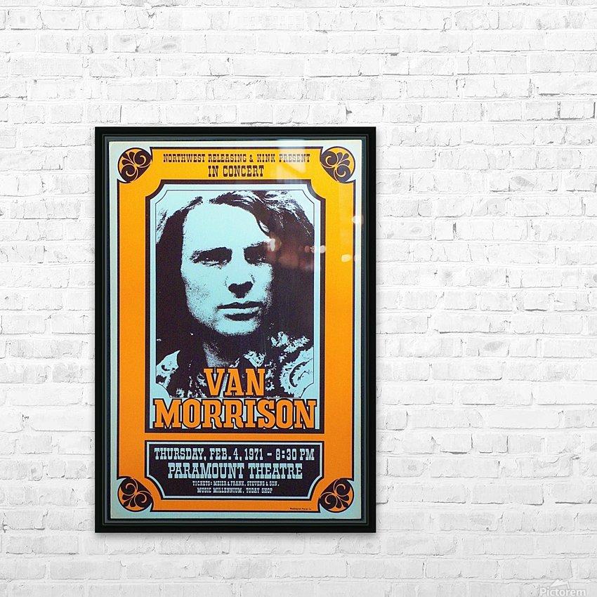 Van Morrison HD Sublimation Metal print with Decorating Float Frame (BOX)