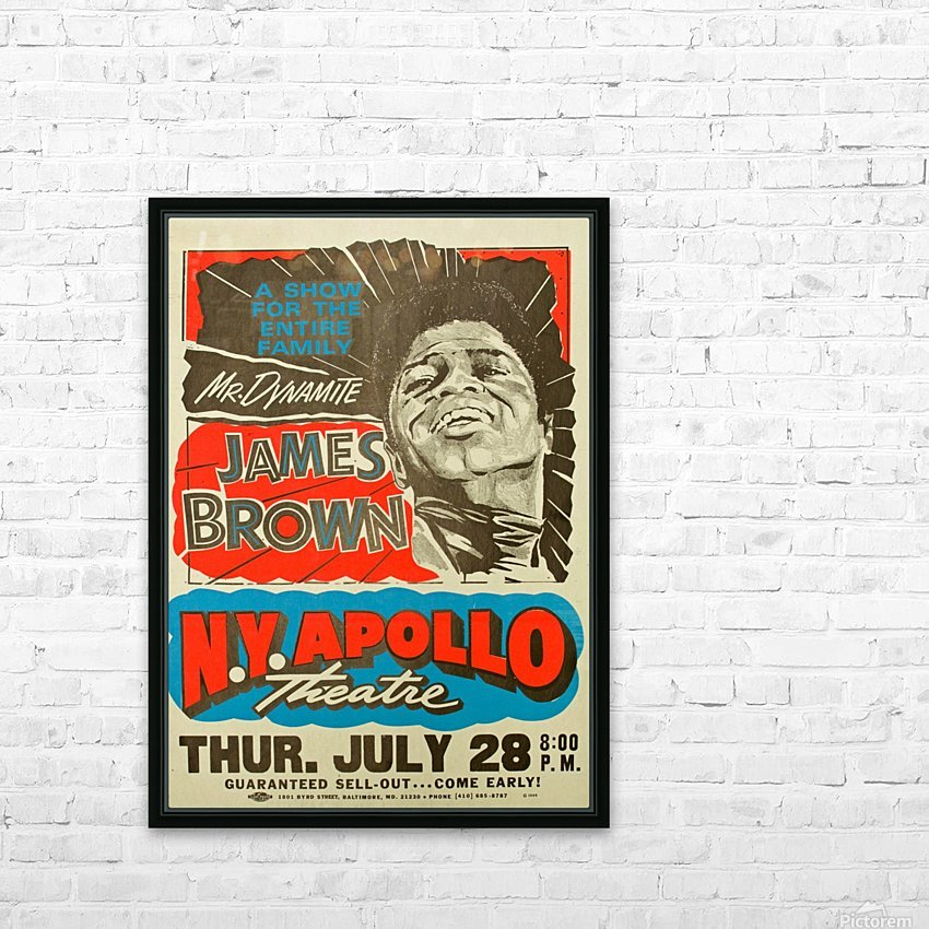 James Brown HD Sublimation Metal print with Decorating Float Frame (BOX)