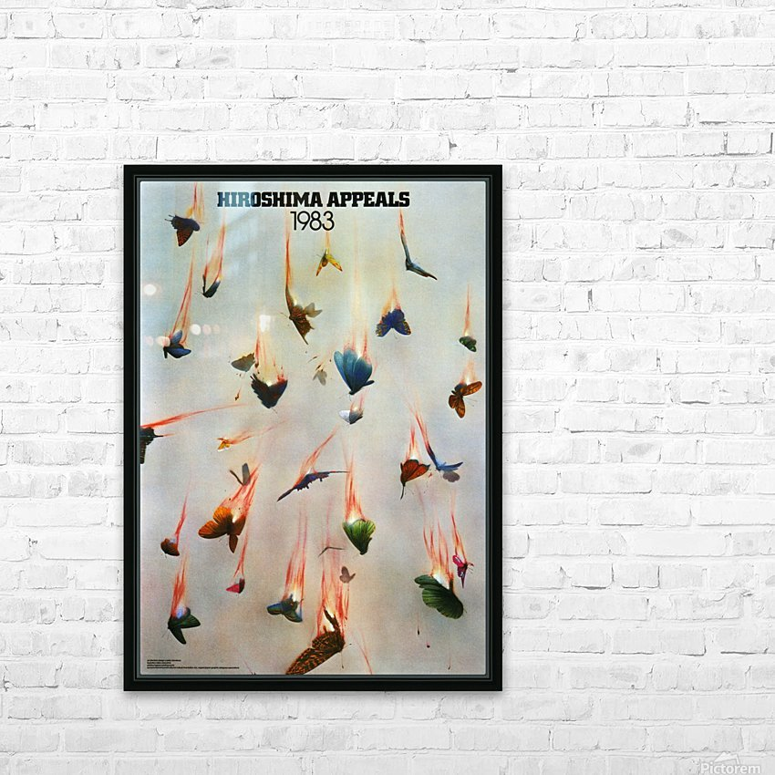 Hiroshima Appeals 1983 HD Sublimation Metal print with Decorating Float Frame (BOX)