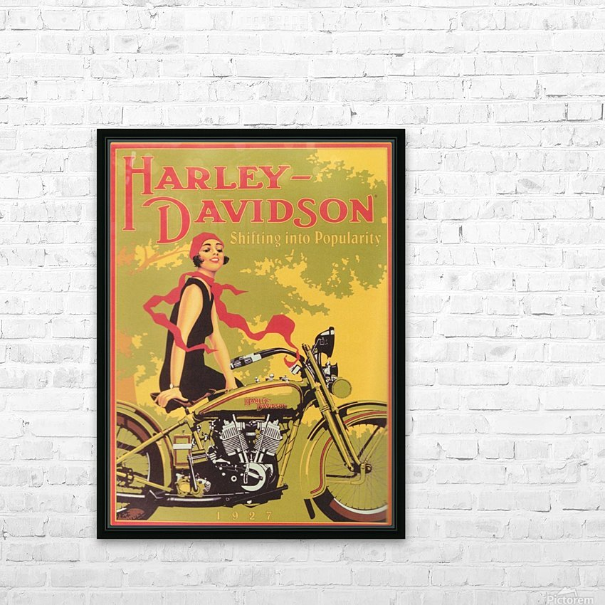 1929 Harley Davidson Shifting into Popularity HD Sublimation Metal print with Decorating Float Frame (BOX)