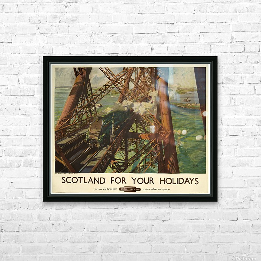 Scotland for your holidays HD Sublimation Metal print with Decorating Float Frame (BOX)