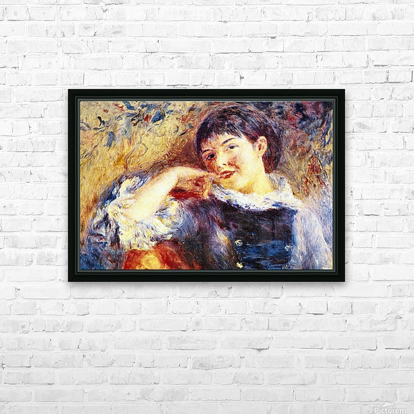 The Dreamer by Renoir HD Sublimation Metal print with Decorating Float Frame (BOX)