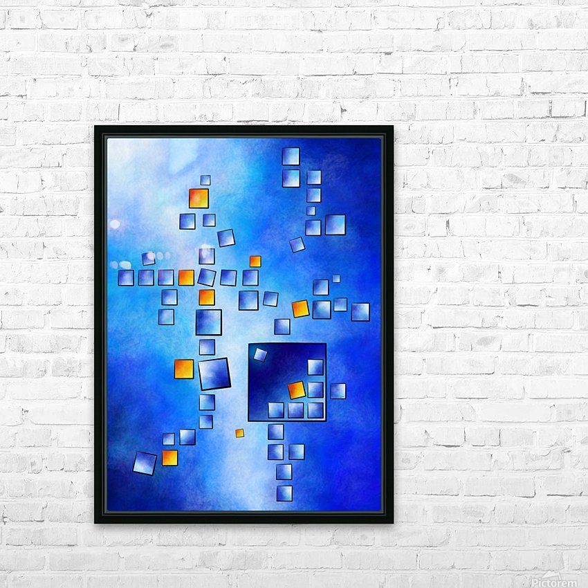 Cublerossia V1 - falling cubes HD Sublimation Metal print with Decorating Float Frame (BOX)