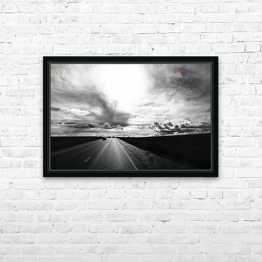 Open Road HD Sublimation Metal print with Decorating Float Frame (BOX)