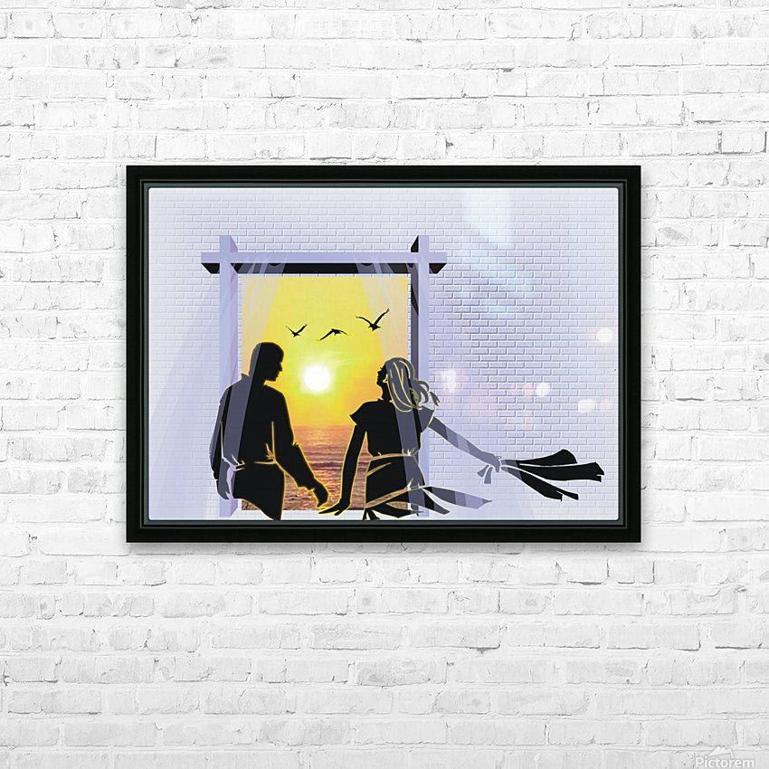 The Couple HD Sublimation Metal print with Decorating Float Frame (BOX)