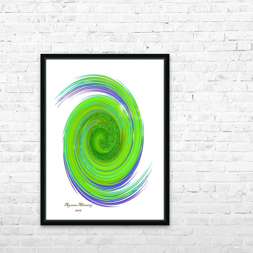The whirl, W7.1A HD Sublimation Metal print with Decorating Float Frame (BOX)