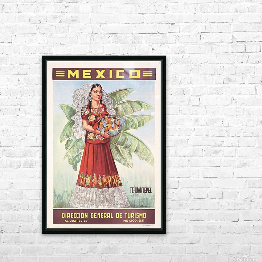 Mexico Tehuantepec vintage poster HD Sublimation Metal print with Decorating Float Frame (BOX)
