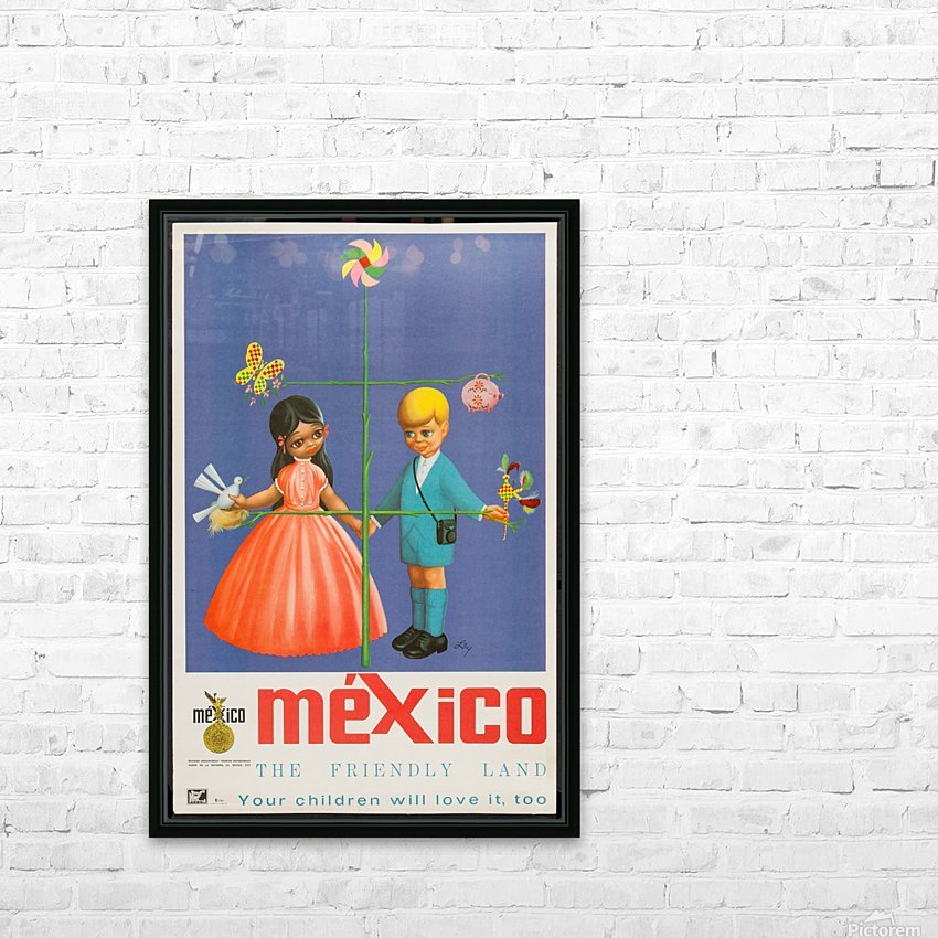 Mexico The friendly land HD Sublimation Metal print with Decorating Float Frame (BOX)
