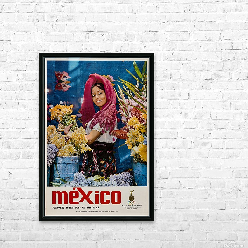 Mexico Flowers every day of the year HD Sublimation Metal print with Decorating Float Frame (BOX)