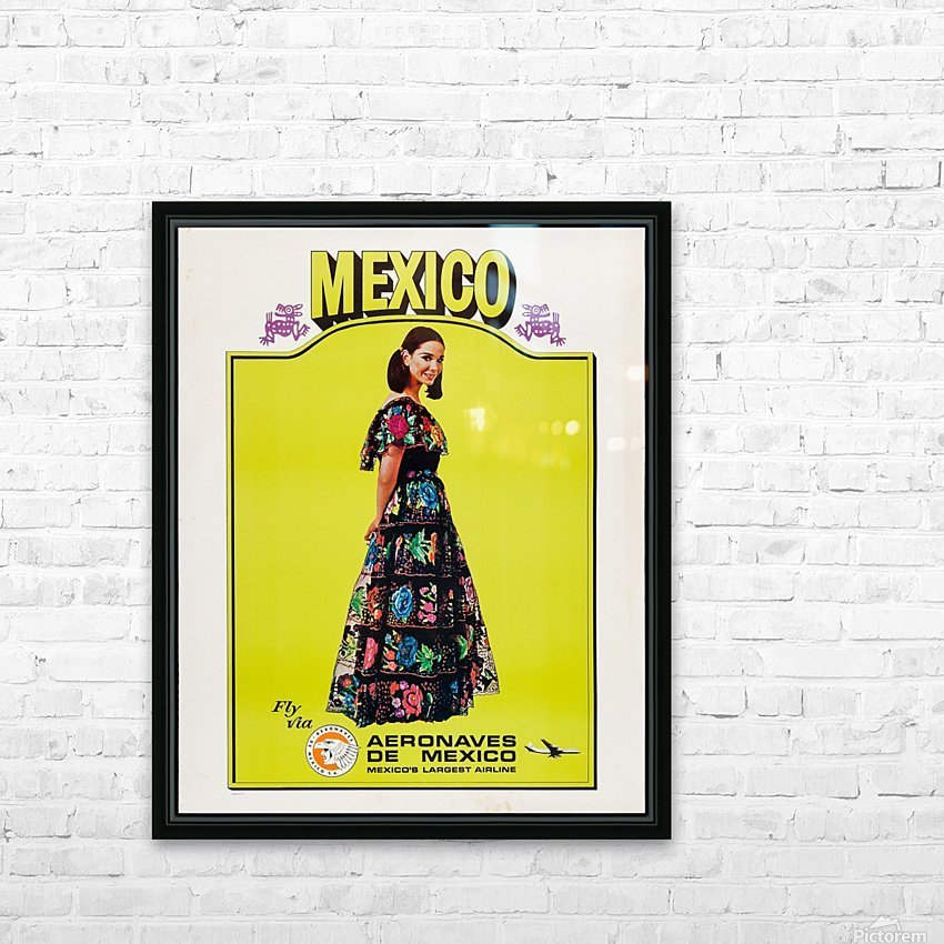 Aeronaves de Mexico Poster HD Sublimation Metal print with Decorating Float Frame (BOX)